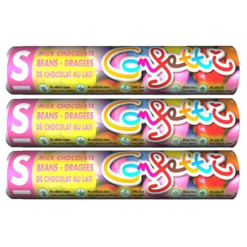 3 x Sweet Switch Confetti Schokolinsen 22g