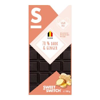 Sweet Switch Zartbitter Ingwer 100g